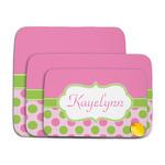 Pink & Green Dots Memory Foam Bath Mat (Personalized)
