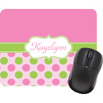 Pink & Green Dots Mouse Pads (Personalized)