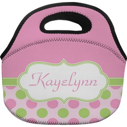 Pink & Green Dots Lunch Bag (Personalized)