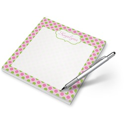 Pink & Green Dots Notepad (Personalized)