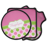 Pink & Green Dots Iron on Patches (Personalized)