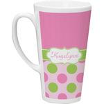 Pink & Green Dots Latte Mug (Personalized)