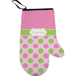 Pink & Green Dots Oven Mitt (Personalized)