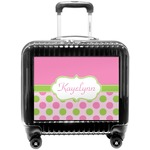 Pink & Green Dots Pilot / Flight Suitcase (Personalized)