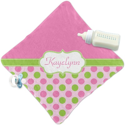 Pink & Green Dots Security Blanket (Personalized)
