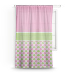 Pink & Green Dots Sheer Curtains (Personalized)