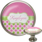 Pink & Green Dots Cabinet Knobs (Personalized)