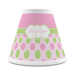 Pink & Green Dots Chandelier Lamp Shade (Personalized)