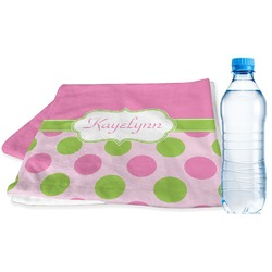 Pink & Green Dots Sports & Fitness Towel (Personalized)