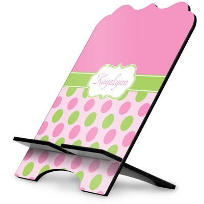 Pink & Green Dots Stylized Tablet Stand (Personalized)