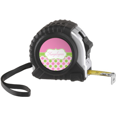 Pink & Green Dots Tape Measure (25 ft) (Personalized)