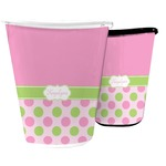 Pink & Green Dots Waste Basket (Personalized)