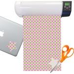 Pink & Green Dots Sticker Vinyl Sheet (Permanent)