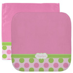 Pink & Green Dots Facecloth / Wash Cloth (Personalized)