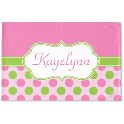 Pink & Green Dots Woven Mat (Personalized)