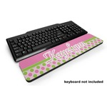 Pink & Green Dots Keyboard Wrist Rest (Personalized)