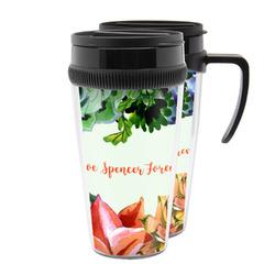 Succulents Acrylic Travel Mugs (Personalized)