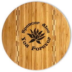 Succulents Bamboo Cutting Board (Personalized)