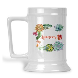 Succulents Beer Stein (Personalized)