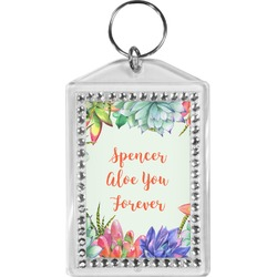 Succulents Bling Keychain (Personalized)