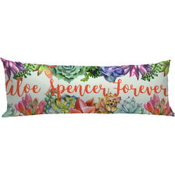 Succulents Body Pillow Case (Personalized)