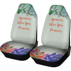 Succulents Car Seat Covers (Set of Two) (Personalized)