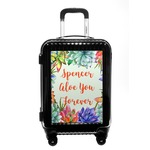 Succulents Carry On Hard Shell Suitcase (Personalized)