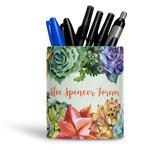 Succulents Ceramic Pen Holder