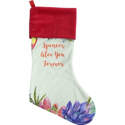 Succulents Christmas Stocking (Personalized)