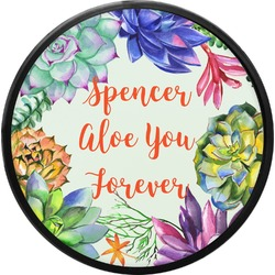 Succulents Round Trailer Hitch Cover (Personalized)