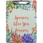 Succulents Clipboard (Personalized)