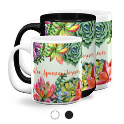 Succulents Coffee Mugs (Personalized)