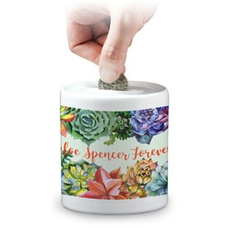 Succulents Coin Bank (Personalized)