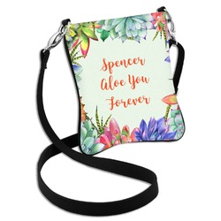 Succulents Cross Body Bag - 2 Sizes (Personalized)