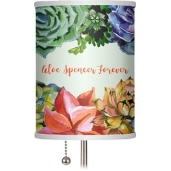 """Succulents 7"""" Drum Lamp Shade (Personalized)"""