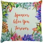 Succulents Decorative Pillow Case (Personalized)