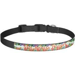 Succulents Dog Collar - Large (Personalized)