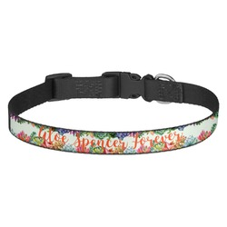 Succulents Dog Collar (Personalized)