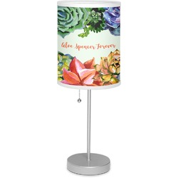 """Succulents 7"""" Drum Lamp with Shade (Personalized)"""