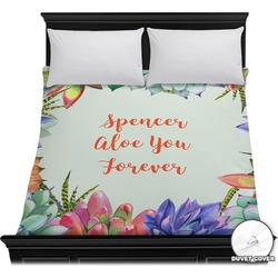 Succulents Duvet Cover (Personalized)