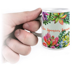Succulents Espresso Mug - 3 oz (Personalized)