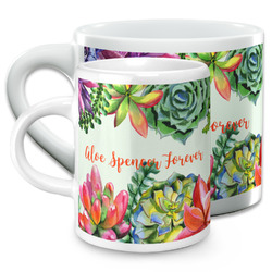 Succulents Espresso Cups (Personalized)