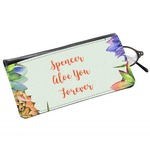 Succulents Genuine Leather Eyeglass Case (Personalized)