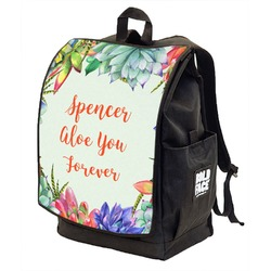 Succulents Backpack w/ Front Flap  (Personalized)