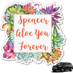 Succulents Graphic Car Decal (Personalized)