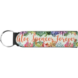 Succulents Neoprene Keychain Fob (Personalized)