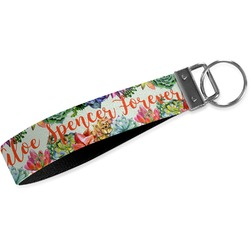 Succulents Webbing Keychain Fob - Large (Personalized)