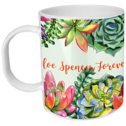 Succulents Plastic Kids Mug (Personalized)