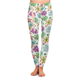 Succulents Ladies Leggings (Personalized)