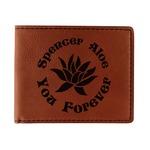 Succulents Leatherette Bifold Wallet (Personalized)